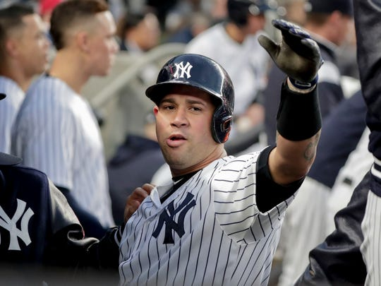 Yankees catcher Gary Sanchez.