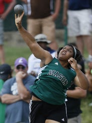 Mason's Amaya King puts the shot in the OHSAA State