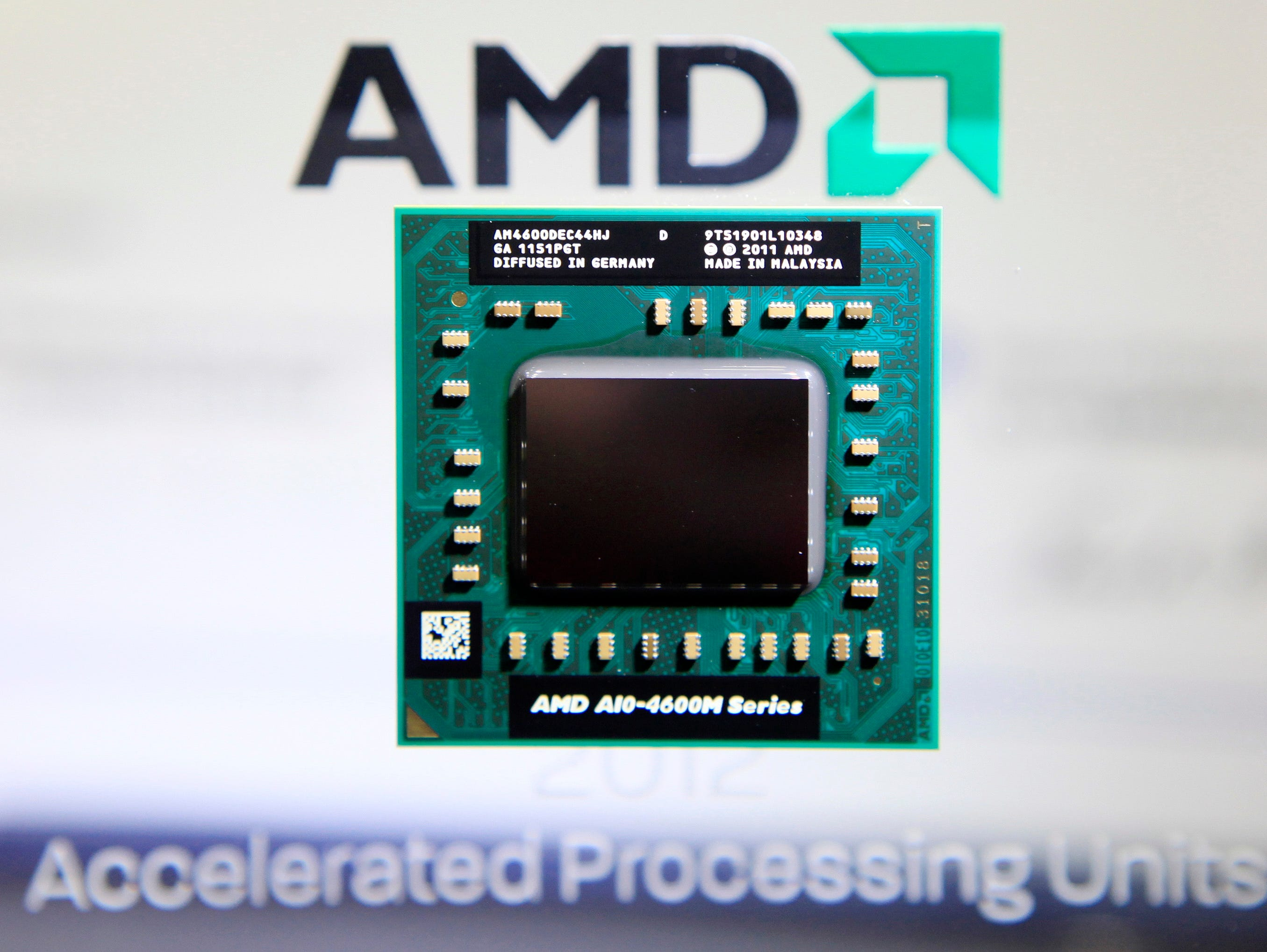 Shares of Advanced Micro Devices fall due to weak sales projection.