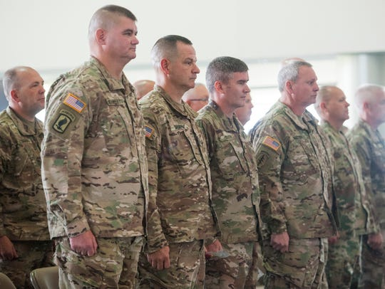 A deployment ceremony is held for Logistics Team FWD