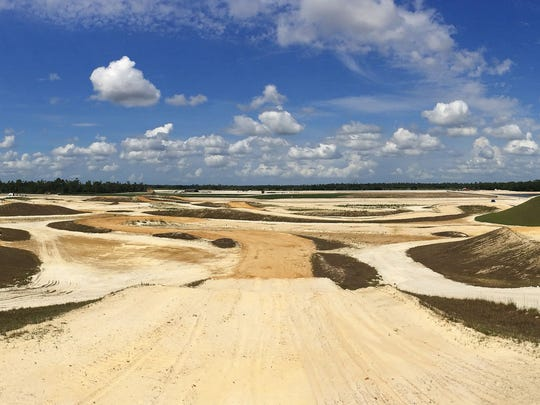 The professional motocross track at Florida Tracks & Trails