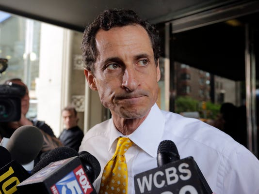 AP ANTHONY WEINER-SEXTING A FILE USA NY