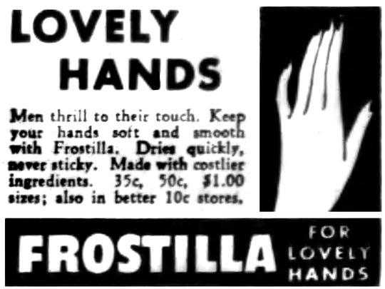 An 1949 Frostilla advertisement in the Star-Gazette.