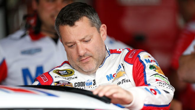 Tony Stewart climbed into his car for the first time in 2016 at Richmond  International Raceway.