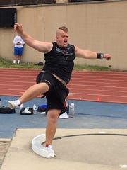 Paxton Titus of Livingston Christian won the shot put