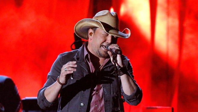 Jason Aldean at the CMA Awards.