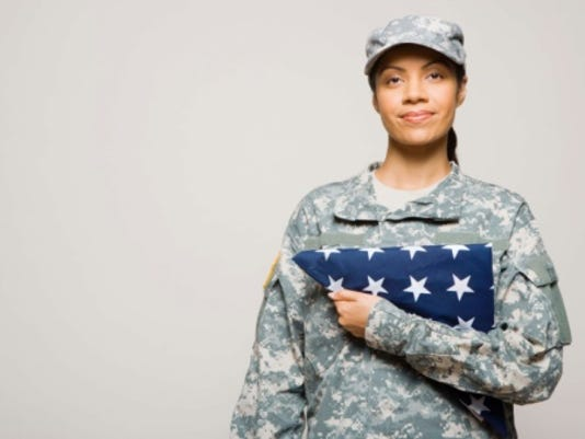 STOCK-Soldier with flag