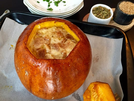 This fall soup successfully combines pumpkin, Gruyere