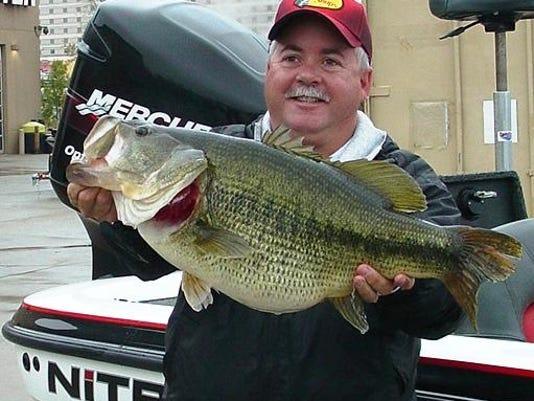 Russ McVey with big bass