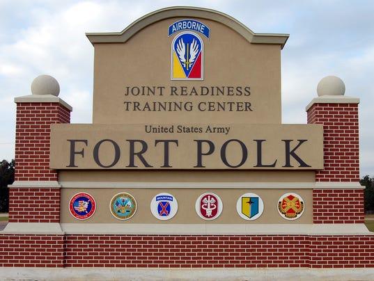 New Fort Polk sign on U.S. Highway 171