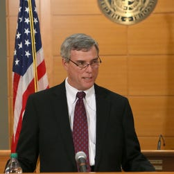 St. Louis County prosecutor Robert McCulloch announces the grand jury's decision not to indict officer Darren Wilson on Monday.