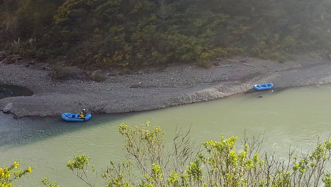 The Eel River near the reported crash site.