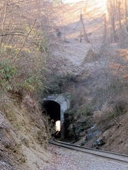 Trains have been running through Swannanoa Tunnel since