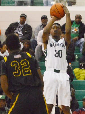 Peabody junior guard and LSU commitment Cedric Russell (30) is one of several top Cenla basketball prospects who will compete in the Louisiana 12 tournament this weekend in Baton Rouge.