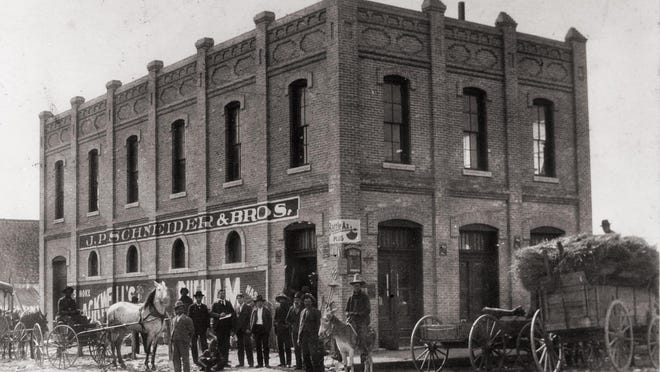 The Schneider General Store, now home to Lambert's on West Second Street, was one of the better known stores in Austin during the late 1800s. Jacob Peter Schneider knew that for many rural residents, a trip to the grocery store usually meant at least an overnight stay, so he converted nearby land, originally destined for his father's brewery, into a wagon yard for his customers. Schneider's long time employee Hayward Clements, an African American, was the last manager for the store when the family closed it in 1935.
