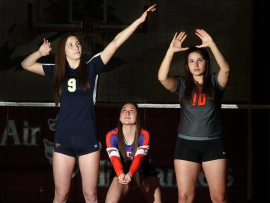 Prep Volleyball Players of the Year are, from left,