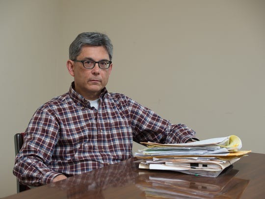 Stephen Hampton a lawyer and owner of Grady & Hampton, LLC, Attorneys at Law in Dover with stacks of  complaints from nearly 100 inmates, as well as family members and others about reported abuse. Stephen plans to file lawsuits or a class action suit on behalf of the inmates.