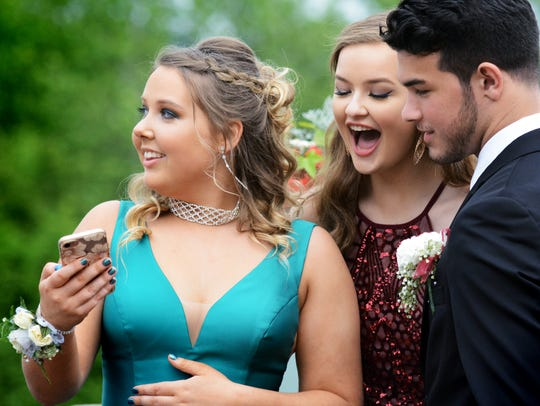 From left, Kaylee Mustard, Tess Murphy and Joey DePasquale