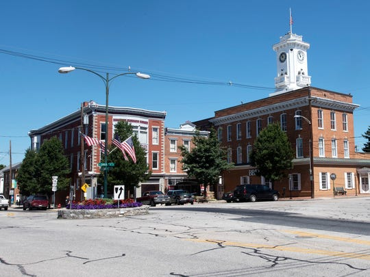 The Greencastle Square is pictured on Monday, July 9, 2018.