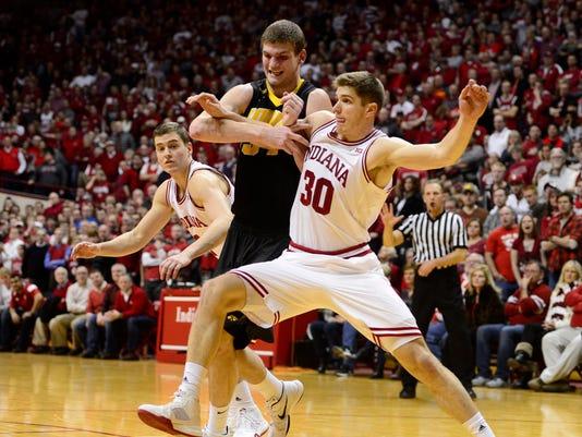 NCAA Basketball: Iowa at Indiana