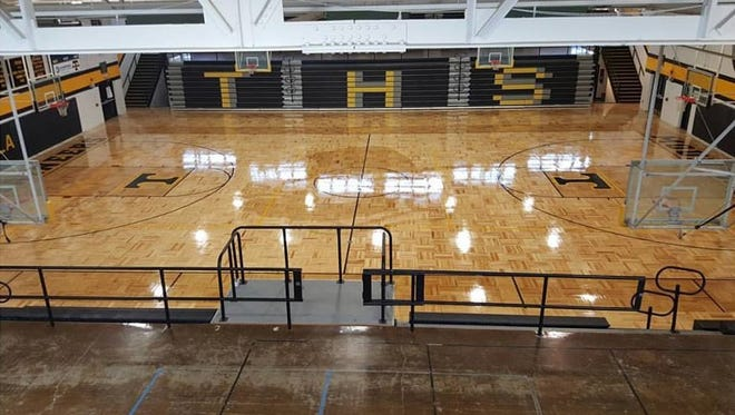 Tuscola's new gym floor.