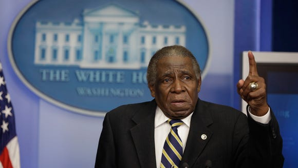 Minnie Minoso during a 2013 visit to the White House.