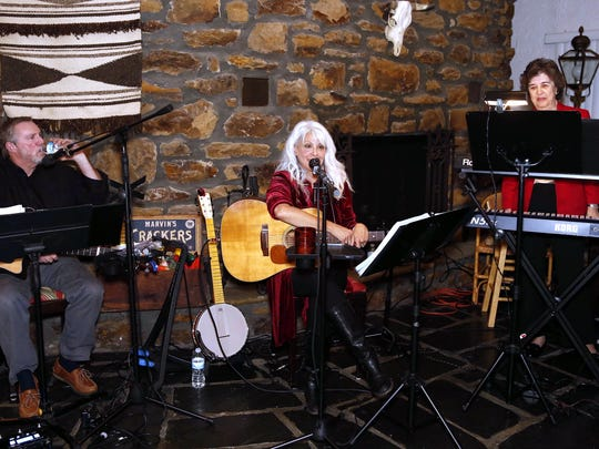 Carolyn Hannan performs with longtime friends Thom Gilbride and keyboardist Marlene Williams.