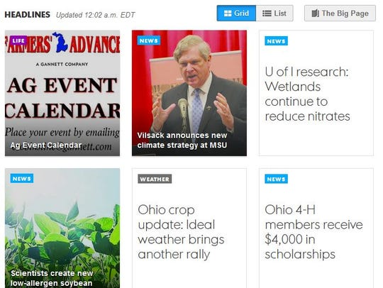 You can scan headlines in a visual grid format. Or
