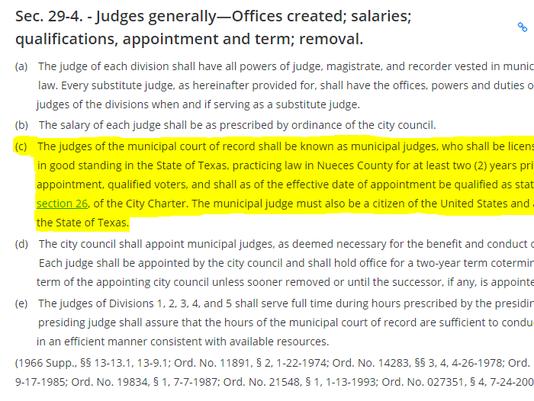 Judge qualifications