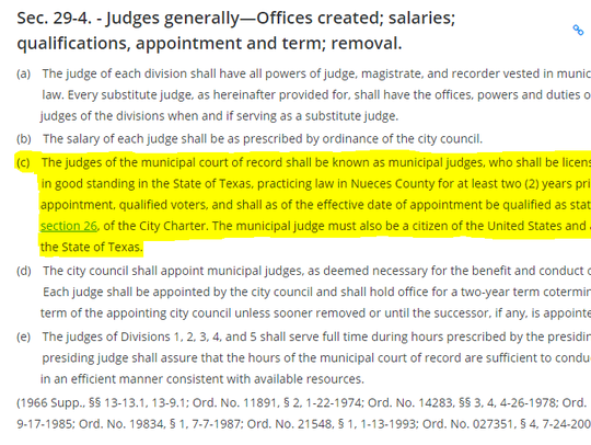 Here are the qualifications for a municipal court judge