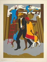 """The Builders"" by Jacob Lawrence"