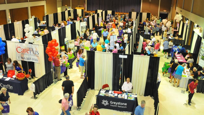 Hundreds of seniors have packed the Melbourne Auditorium as part of the the 16th annual Senior Fest on Friday. The event featured a host of vendors representing both businesses and public agencies including the Titusville, Satellite Beach, West Melbourne, Melbourne Police Departments and the Brevard County Sheriff's Office.