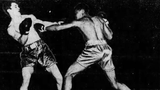 Joe Louis in 1933 in the Detroit Golden Gloves tournament.
