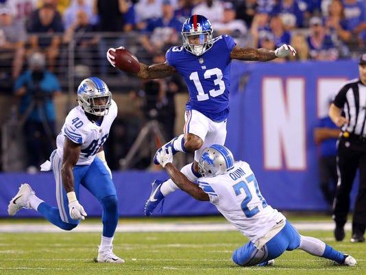 USP NFL: DETROIT LIONS AT NEW YORK GIANTS S FBN NYG DET USA NJ