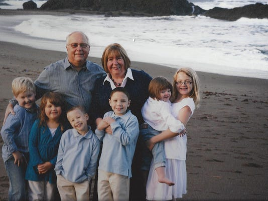 Wendy and Terry now, with 6 grandkids.jpg