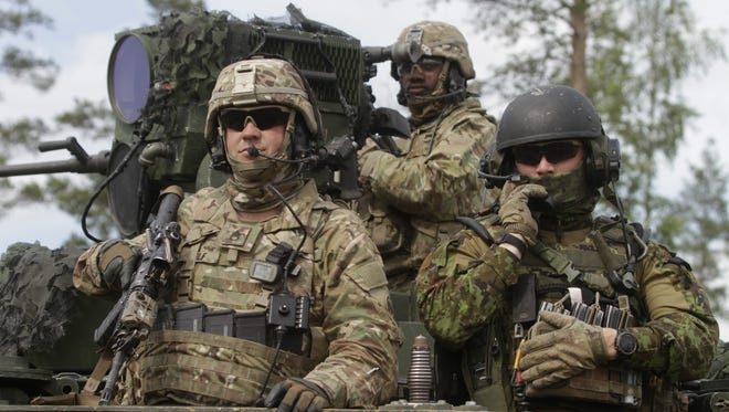 US soldiers during an exercise at Tapa Training Bain  in Latvia, Lithuania and Estonia.  June, 17 2016. While U.S. employers view veterans as heroes, a small percentage actually see them as hiring assets, according to a new survey.