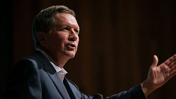 John Kasich spent the weekend on TV, defending his