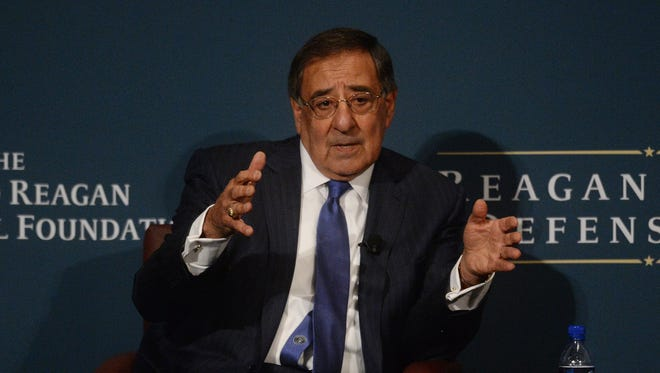 Leon E. Panetta, shown at the Ronald Reagan Presidential Library & Museum in 2014, took part in a Responsible Federal Budget on Thursday. He and other panelists urged the Trump administration to deal with the nation's debt and not jeopardize its future.