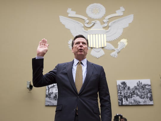 FBI Director James Comey testified before a House committee