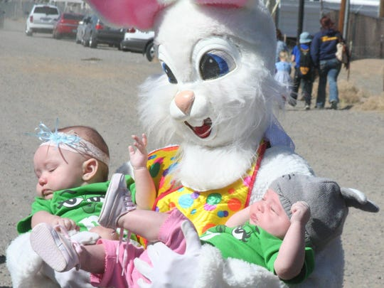 Take photos with the Easter Bunny at the Great Egg Race at Damonte Ranch High School.