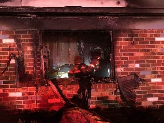 Tallahassee firefighters respond to a blaze on Abbiegail