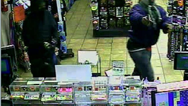 Hermitage detectives are working to identify three men and one woman who robbed a Mapco convenience store Friday night.
