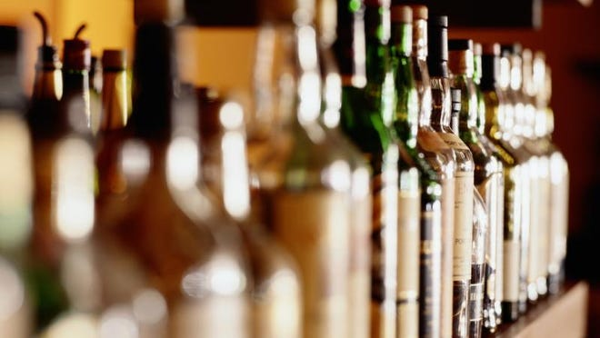 Getty Images A new study estimates alcohol is to blame for one in every 30 cancer deaths each year in the United States. Getty Images Shelf of liquor bottles (differential focus