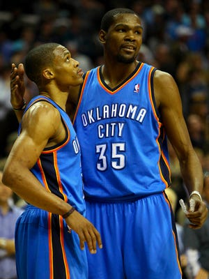 Kevin Durant and Russell Westbrook have incredible chemistry when at the tops of their games.