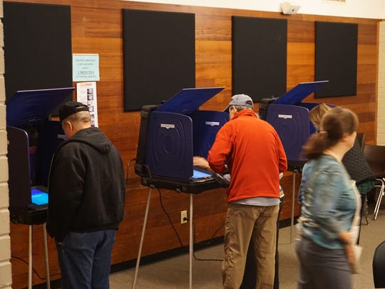 The polling place at Travelers Rest City Hall was already humming shortly after 7 a.m. Saturday.