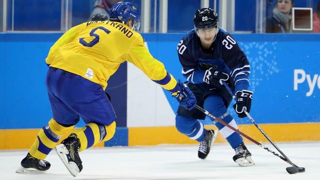 Predators prospect Eeli Tolvanen has three goals and six points in three games with the Finnish Olympic team.