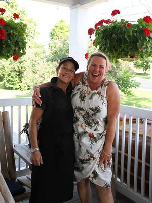 Chef Phoebe Bright with singer Tammy Fletcher, who will be performing at Sunday's fundraiser.