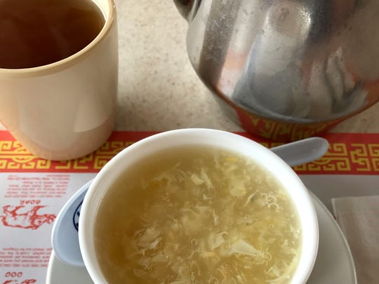 Egg Flower Soup at China Garden, North Salinas