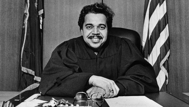 Recorder's Court Judge James Del Rio in 1979