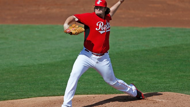 The Reds' David Holmberg during spring training.